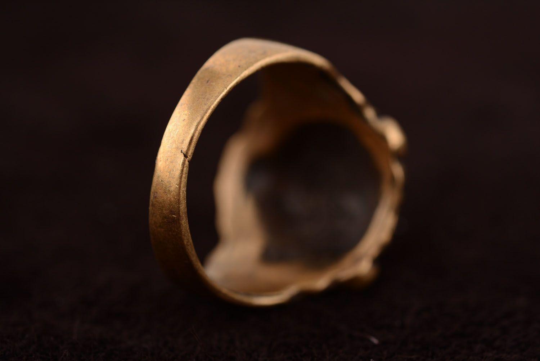 Bronze ring Lion photo 4