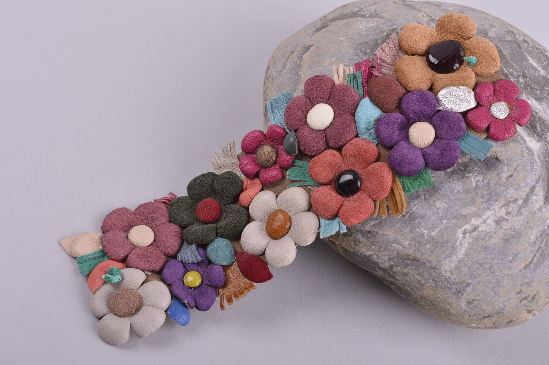 339fcb6f923d pulseras de cuero Pulsera de cuero hecha a mano regalo original brazalete  artesanal con flores -
