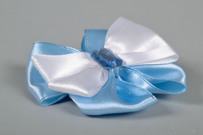 Satin bow hair clip photo 4