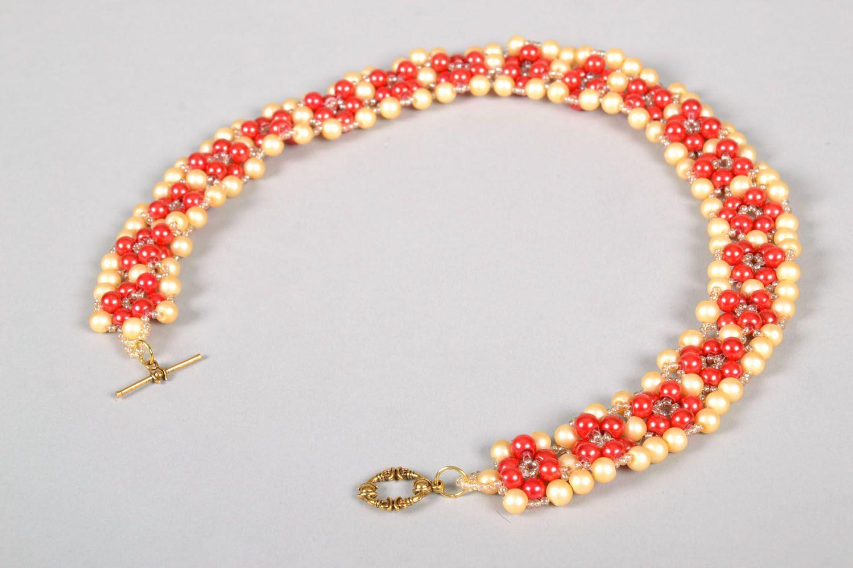 Bright beaded necklace photo 5