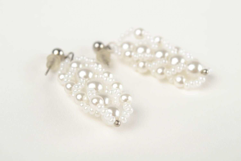 Handmade beaded earrings designer stylish jewelry unique bijouterie for woman photo 4