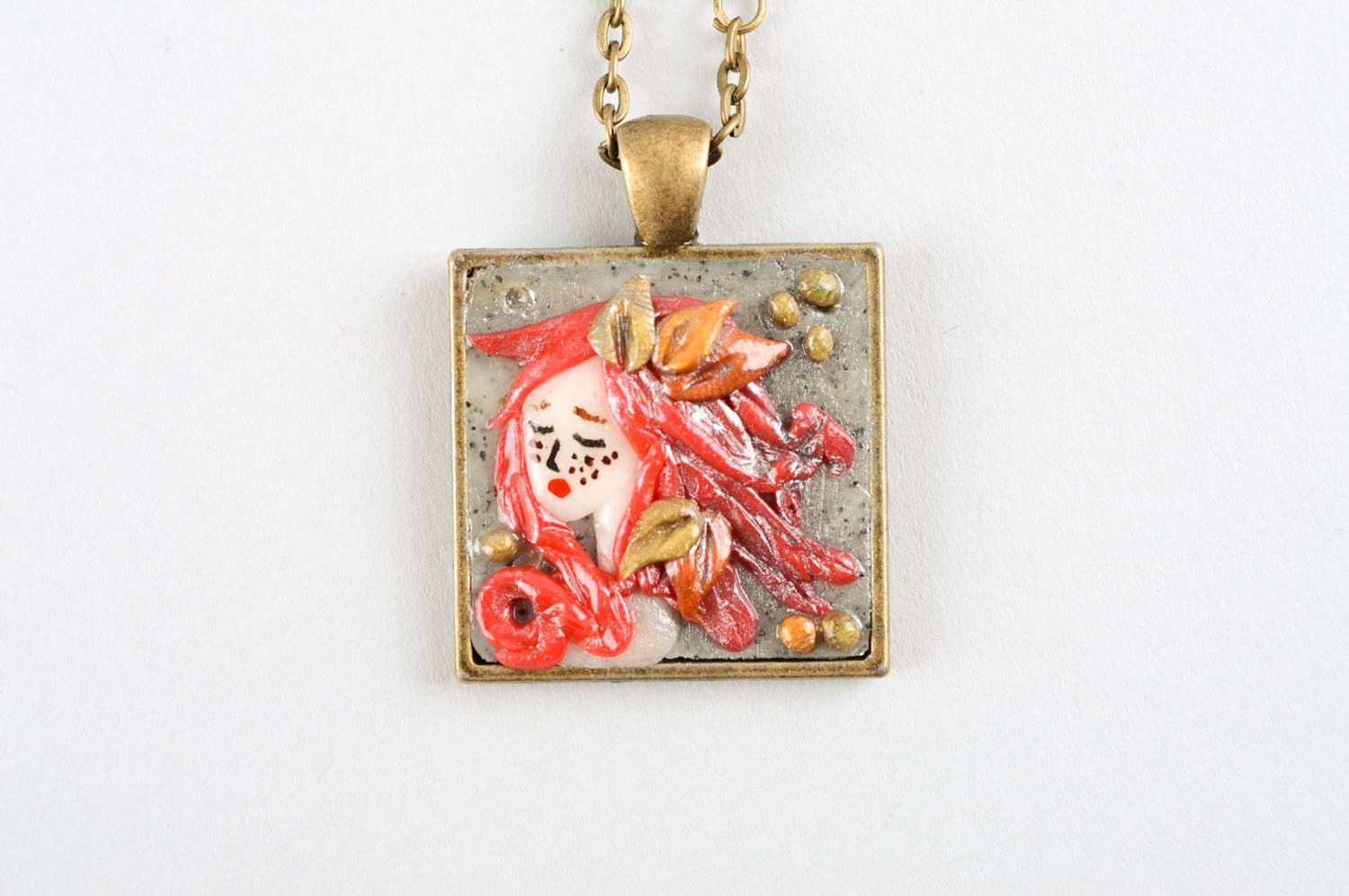Handmade jewelry polymer clay pendant necklace fashion accessories for women photo 3