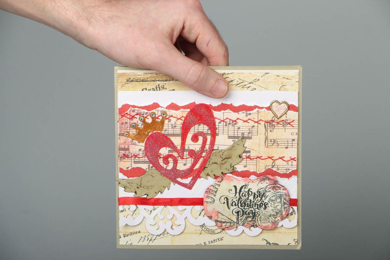 Greeting card St. Valentine's Day photo 4