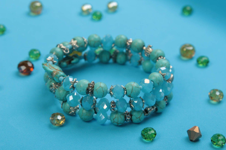 pulseras de cuentas de vidrio Pulsera hecha a mano de cristal bisutería artesanal regalo original para