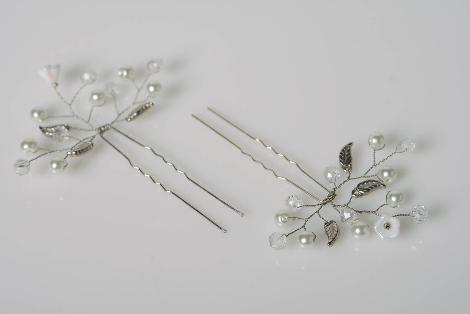 MADEHEART > Set of beautiful handmade designer wire hairpins with ...