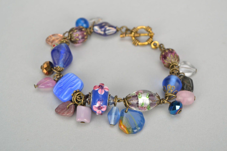 Metal and Czech glass bracelet photo 1