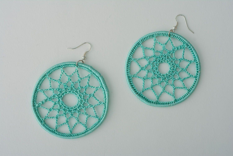 Lace earrings Mint photo 1