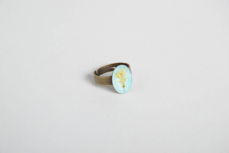 Handmade ring gift ideas epoxy resin ring designer accessory unusual jewelry photo 3