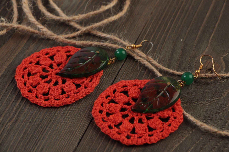 Beautiful handmade jewelry stylish cute accessory designer unusual earrings photo 1