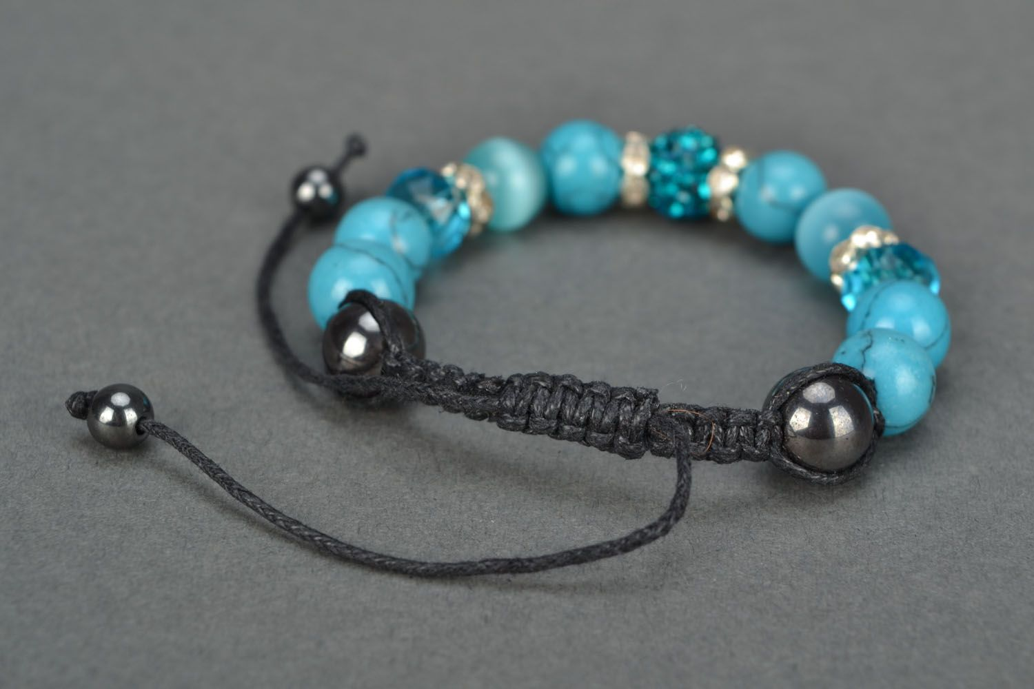 Homemade bracelet with natural stones Blue Sky photo 4