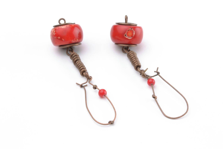 Copper earrings I'm so! photo 4