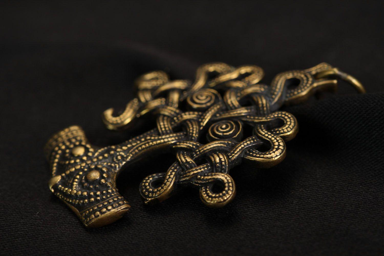 Unusual bronze pendant Iggdrasil photo 3