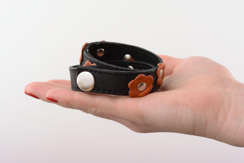 Leather double wrap bracelet photo 2