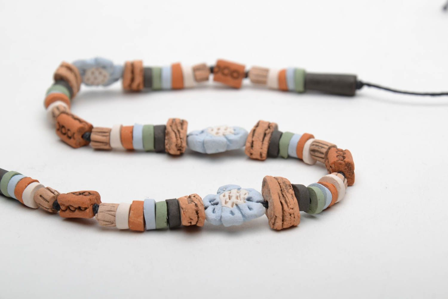 Beautiful ceramic necklace photo 5