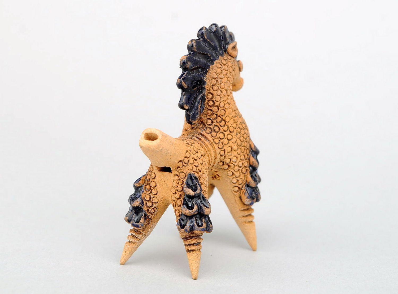 Ceramic penny whistle Horse photo 4