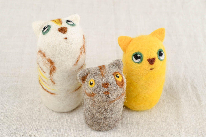 MADEHEART > Stofftiere Katzen Haus Deko handgemachte Geschenke ...