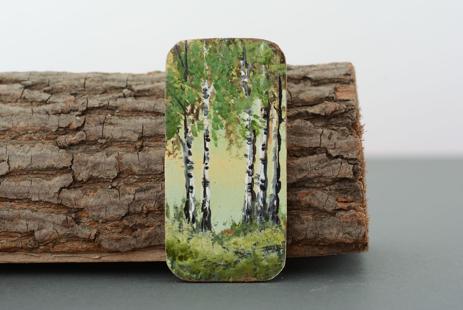 Wooden fridge magnet In the Birch Grove photo 1