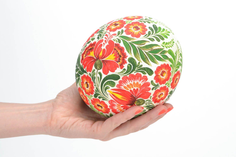 Как украсить страусиное яйцо своими руками