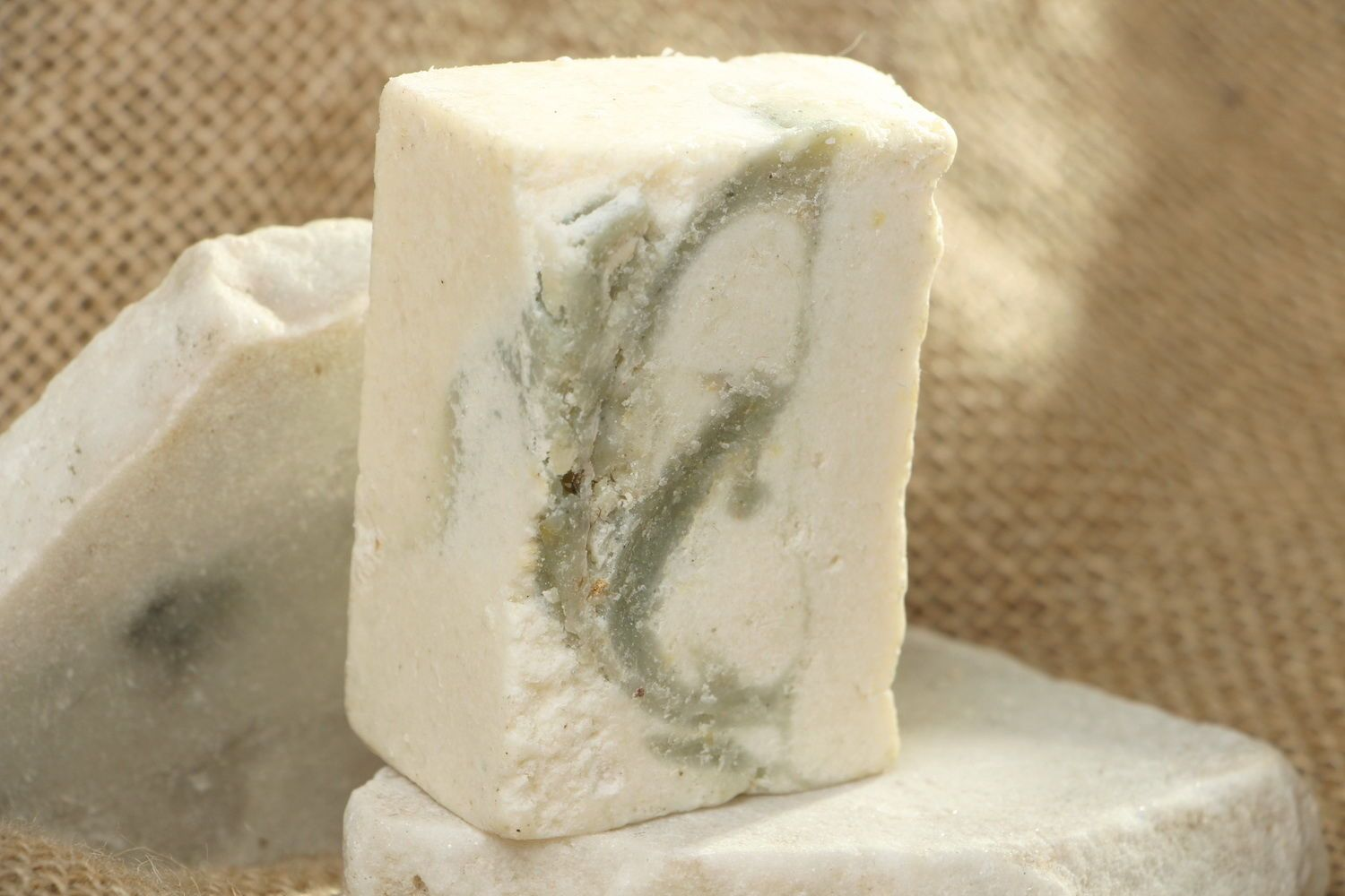 Handmade soap with salt and clay photo 1
