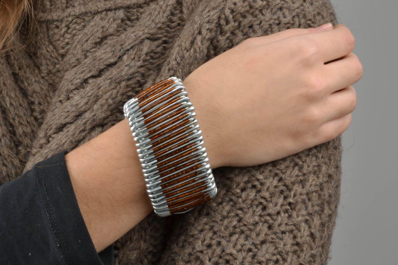 Unusual metal bracelet photo 1