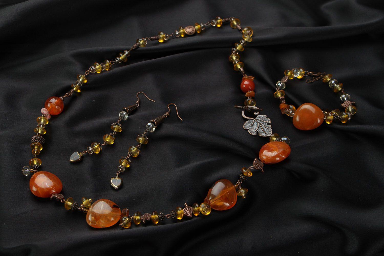 Amber jewelry set photo 1