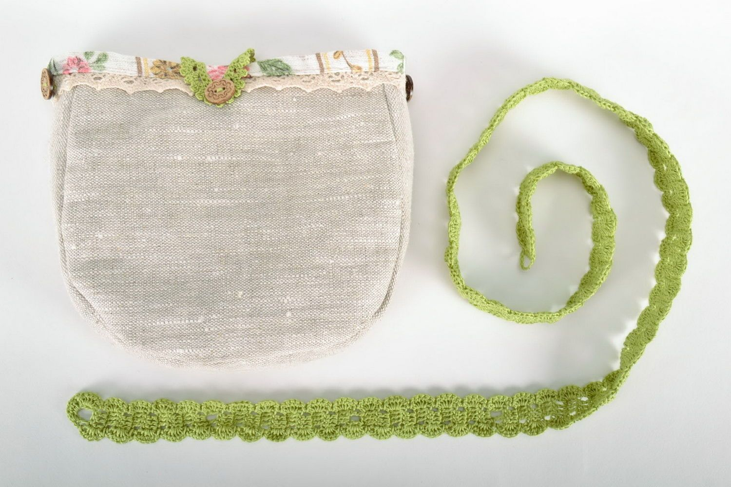 Bag made from flax and cotton  photo 4