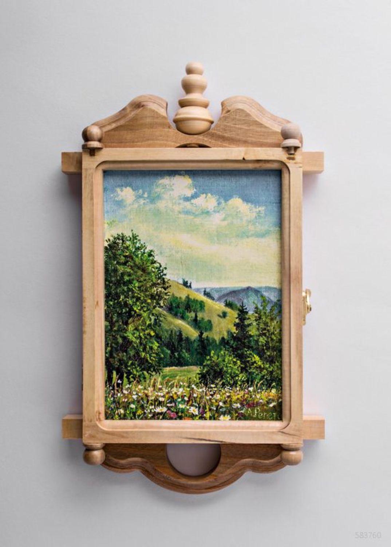 Porta Orecchini Da Parete cassetta porta-chiavi di legno fatta a mano scrignetto quadro da parete