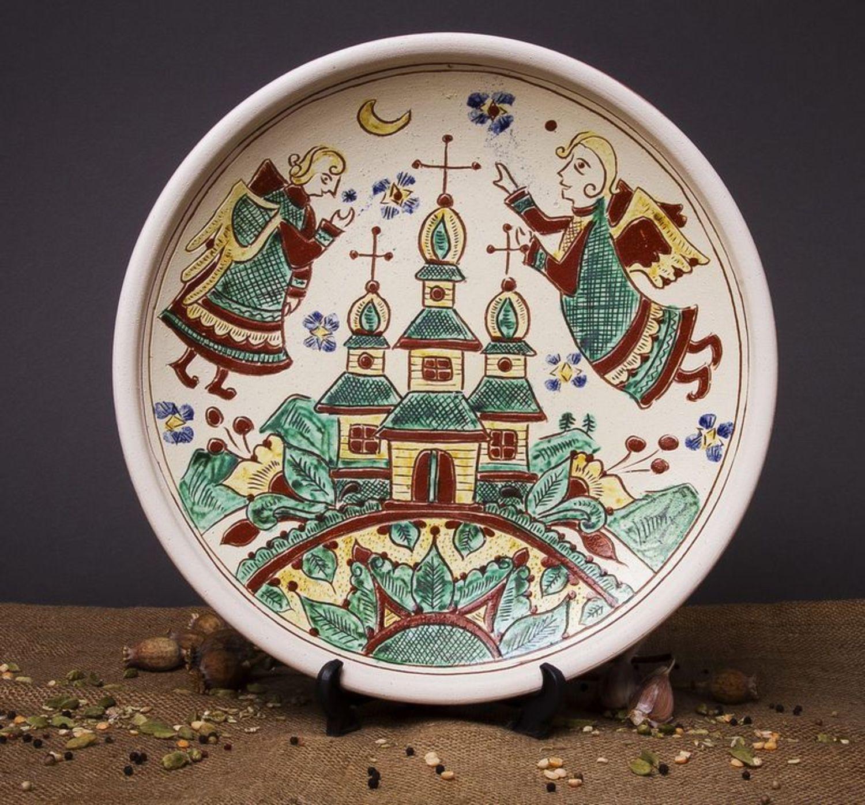 Decorative clay plate photo 1