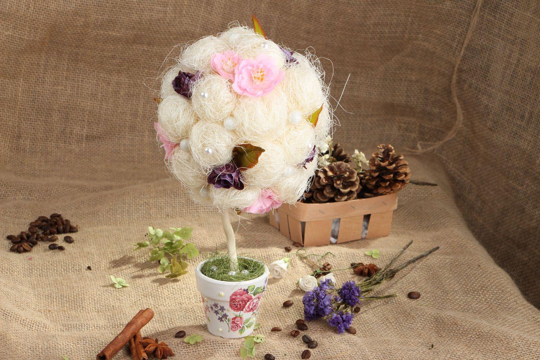 Handmade topiary Blossoming Cherry Tree photo 5