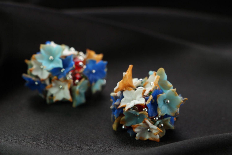 Unusual plastic earrings photo 2