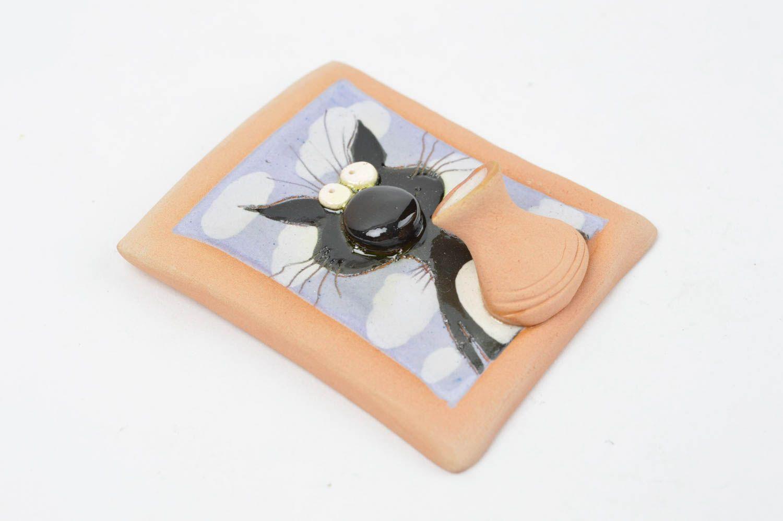 Unusual fridge magnet ceramic souvenir home decor present made of clay photo 2