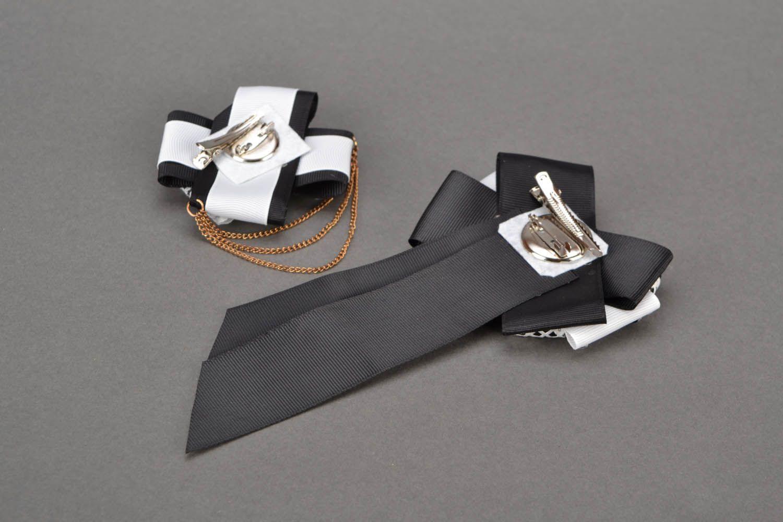 Haarklemmen-Set Brosche und Krawatte Eleganz foto 3