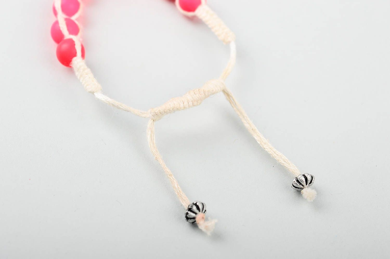 Handmade beaded textile bracelet unusual stylish bracelet elegant jewelry photo 4