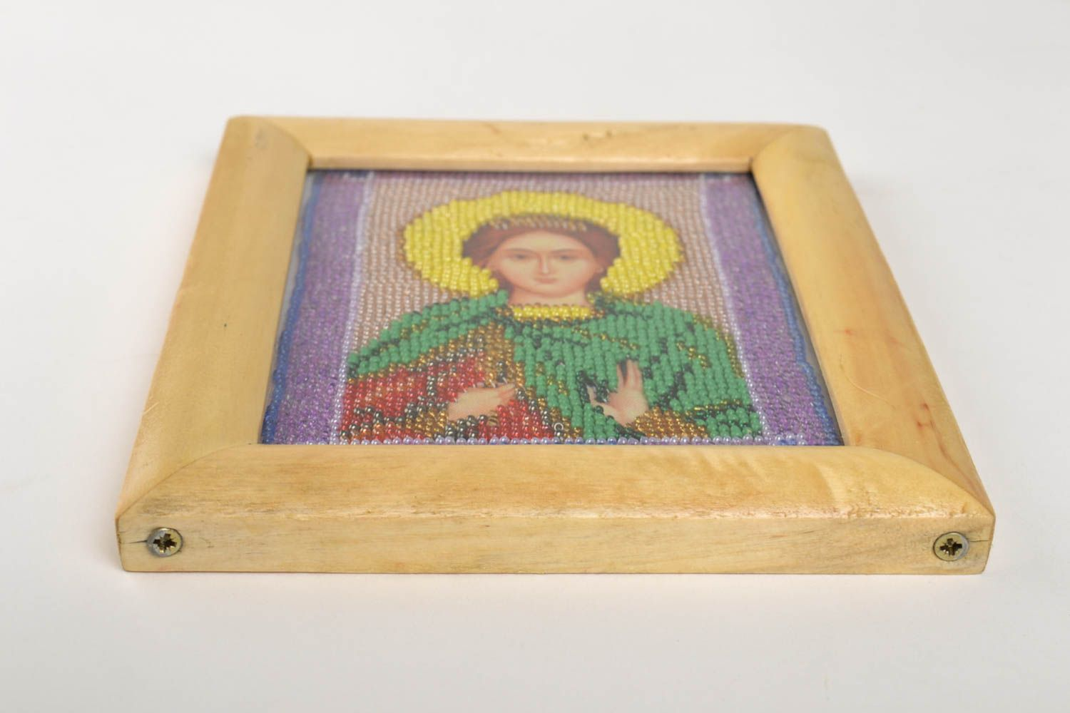 Handmade icon personal icon unusual gift Orthodox icon gift for women photo 3