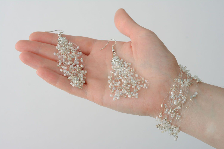 Beaded jewelry set photo 4
