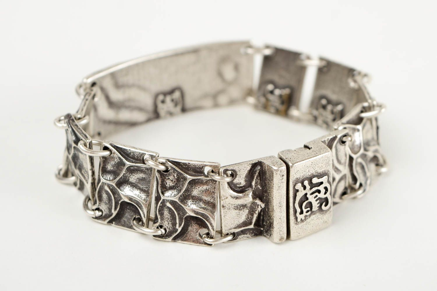 Unusual handmade metal bracelet fashion accessories for girls small gifts photo 5
