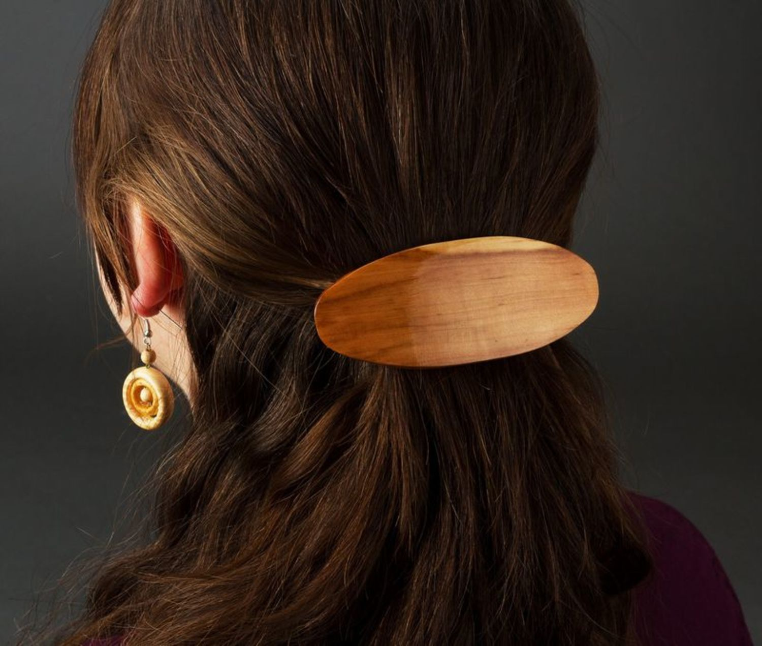 Wooden barrette photo 2