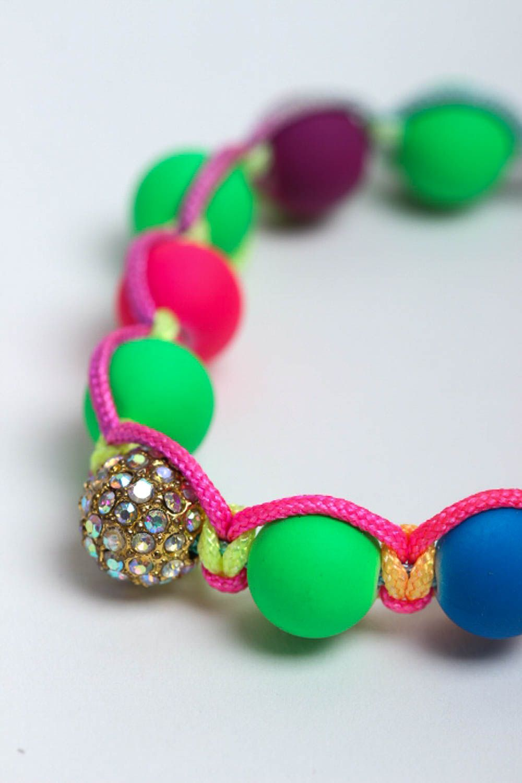 Handmade beaded bracelet summer bracelet interesting jewelry stylish accessories photo 3