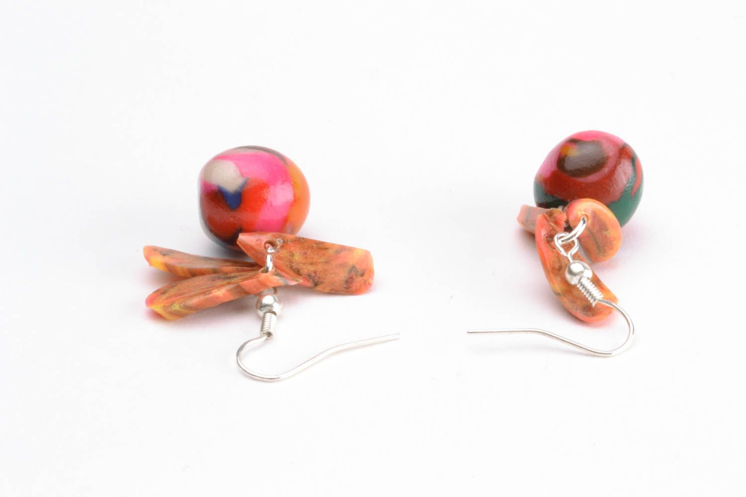 Colourful earrings with charms photo 4