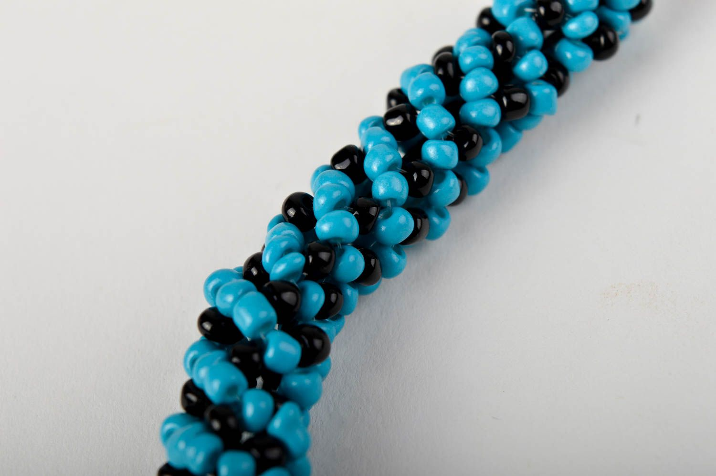 Handmade Schmuck aus Glasperlen Rocailles Kette Damen Accessoire künstlerisch foto 3