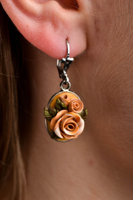 Handmade stylish tender earrings elite bijouterie elegant beautiful earrings photo 1
