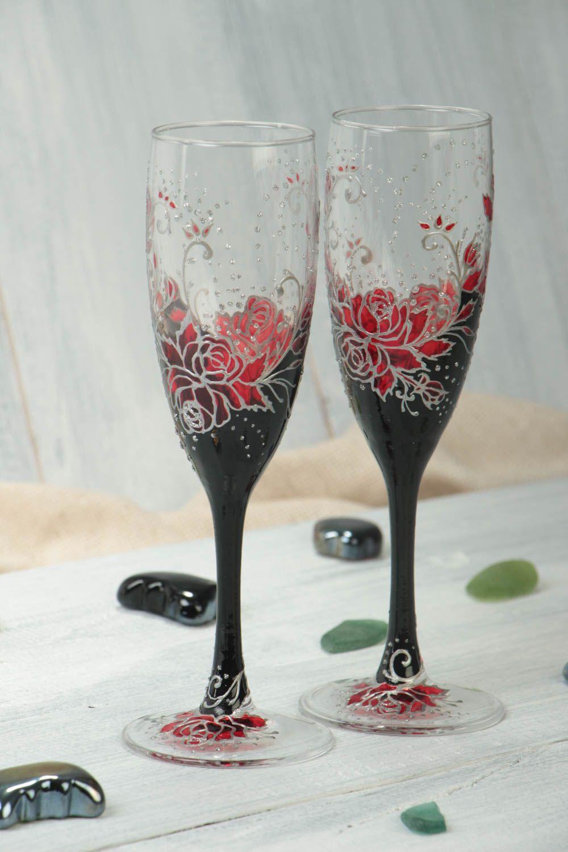 madeheart juego de copas decoradas hechas a mano vajilla