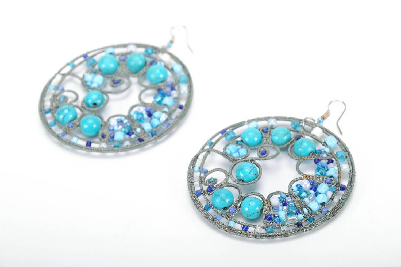 Round earrings photo 2