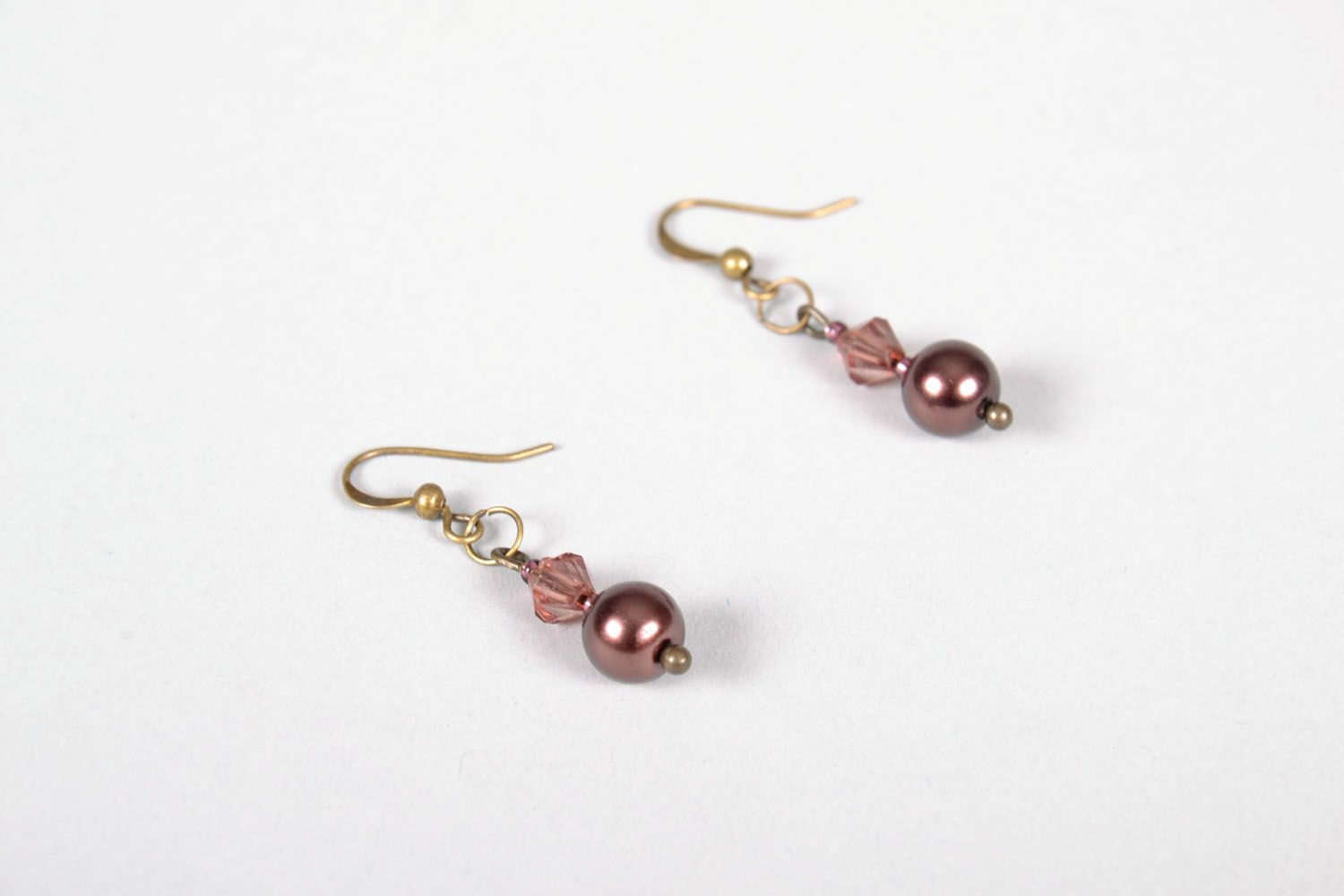 Earrings with beads photo 3