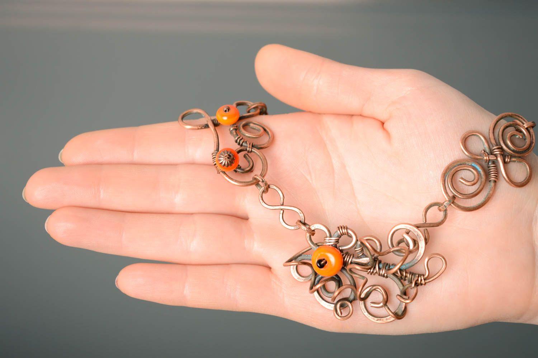 Handmade Collier aus Kupfer  foto 3