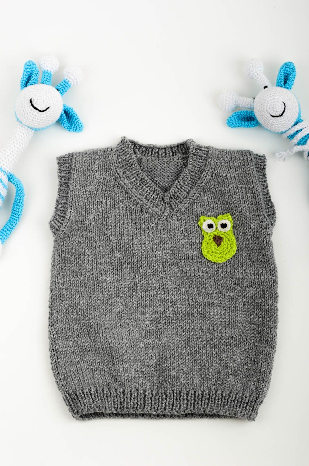Handmade designer knitted clothes