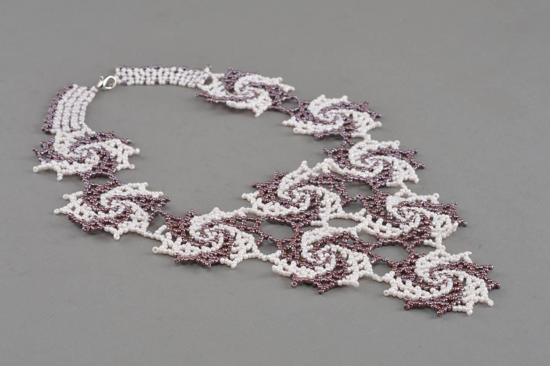 Handmade beaded necklace beautiful accessory elegant designer jewelry photo 2