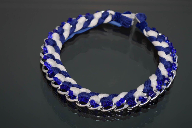 Geflochtene Halskette foto 1