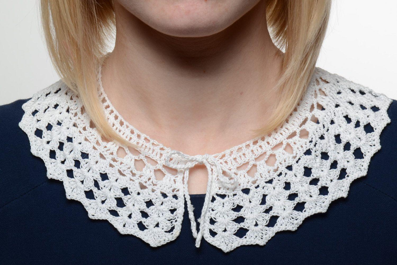 c13bb3087a23 cuellos Collar cuello calado tejido a ganchillo de hilos de algodón hecho a  mano - MADEheart