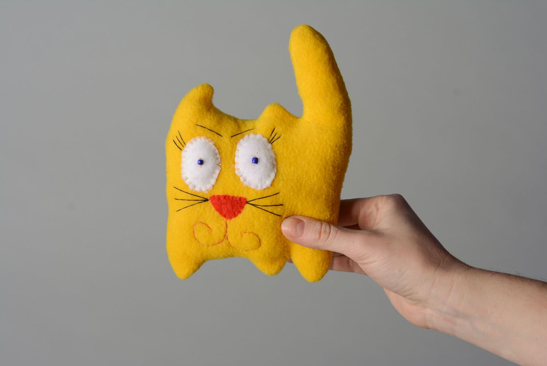 Soft toy Yellow Cat photo 4